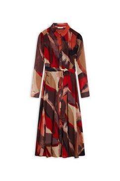 sandwich gedessineerde jurk rood