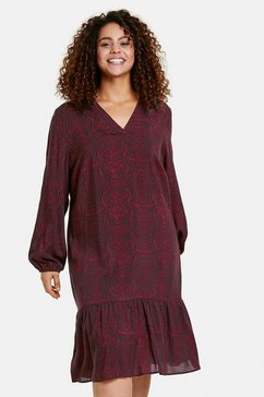 samoon gedessineerde jurk »kleid mit snake-print« rood