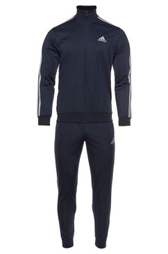 adidas performance trainingspak primegreen essentials 3-strepen (set, 2-delig) blauw