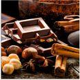 artland print op glas chocolade met ingredinten (1 stuk) bruin