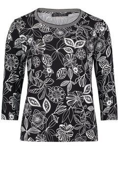betty barclay shirt met 3-4-mouwen zwart