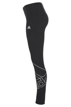 adidas performance legging essentials giant logo legging zwart