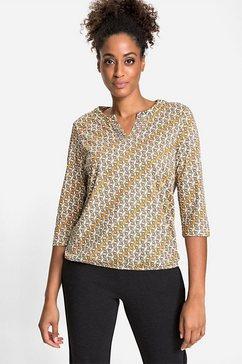 olsen shirt met 3-4-mouwen geel