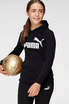 puma hoodie ess logo hoodie tr g zwart