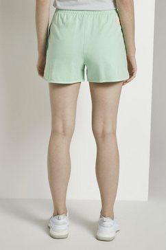tom tailor denim short »vintage sweatshorts mit print« groen