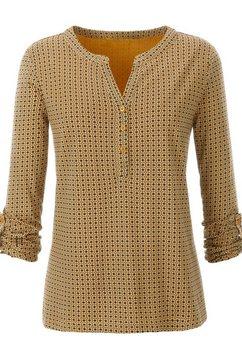 ambria shirt met korte knoopsluiting