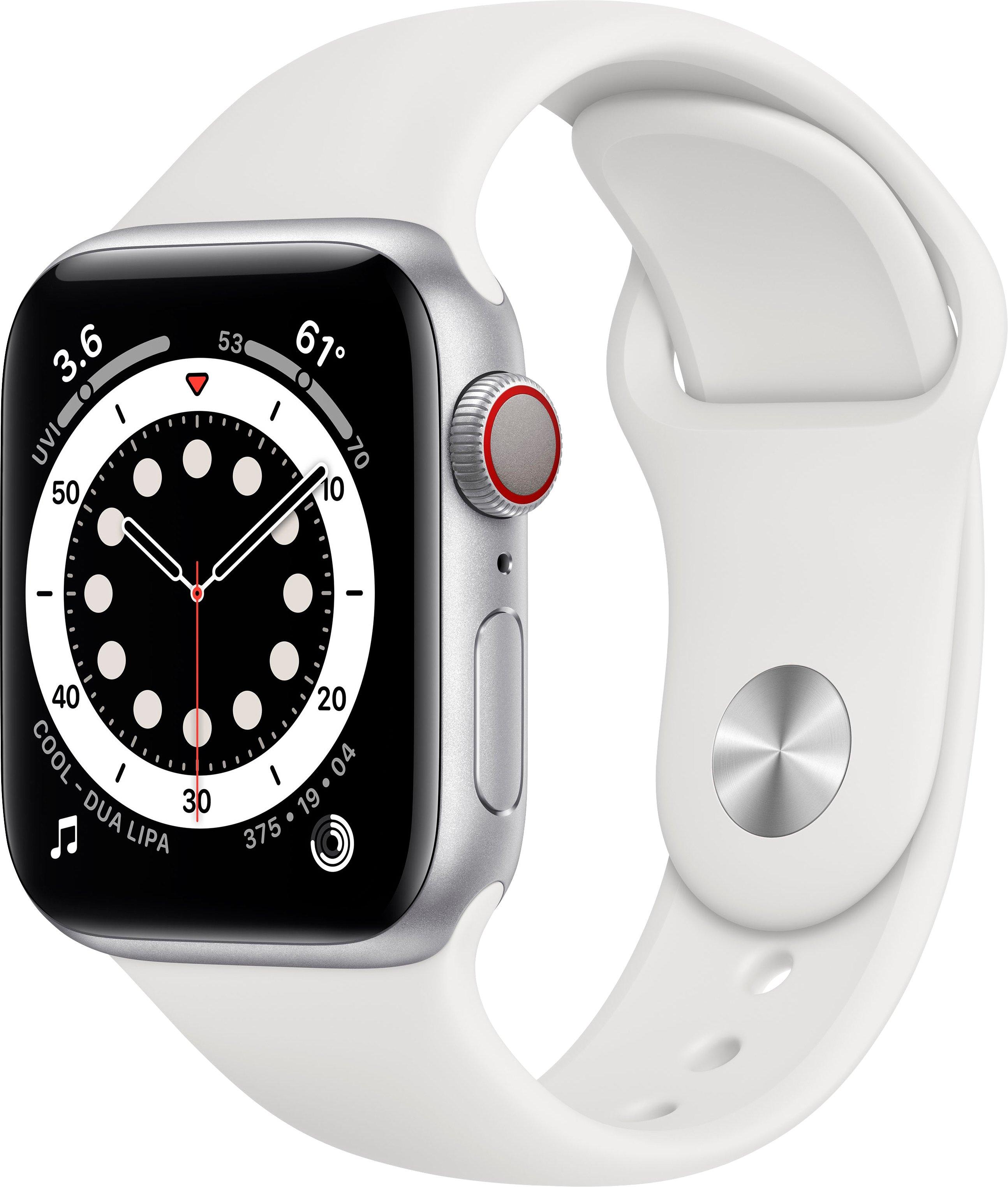 Apple watch Series 6 gps + Cellular, aluminiumbehuizing met sport 40 mm inclusief oplaadstation (magnetische oplaadkabel) veilig op otto.nl kopen