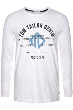 tom tailor denim shirt met lange mouwen wit