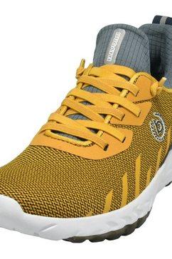bugatti sneakers looper met dempende soft fit-functie geel