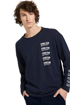 tom tailor denim shirt met lange mouwen blauw