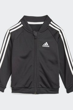 adidas performance trainingspak 3-stripes tricot trainingsanzug zwart