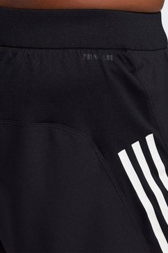 adidas performance functionele short aeroready 3-stripes slim zwart
