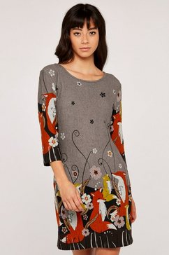 apricot tricotjurk »foxes border soft touch dress« bruin