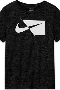nike functioneel shirt nike core big kids' (boys') short-sleeve top zwart