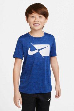 nike t-shirt nike core big kids' short-sleeve top blauw