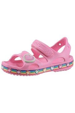 crocs sandalen met klittenbandsluiting roze