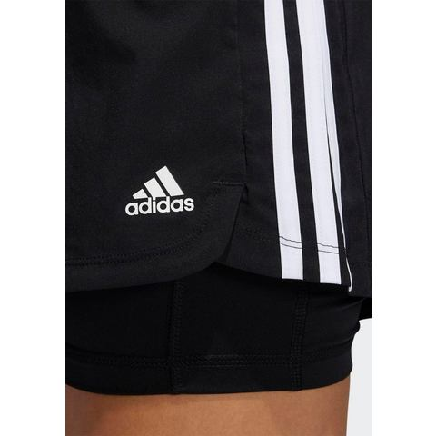 adidas Performance 2-in-1-short PACER 3-STREIFEN WOVEN TWO-IN-ONE