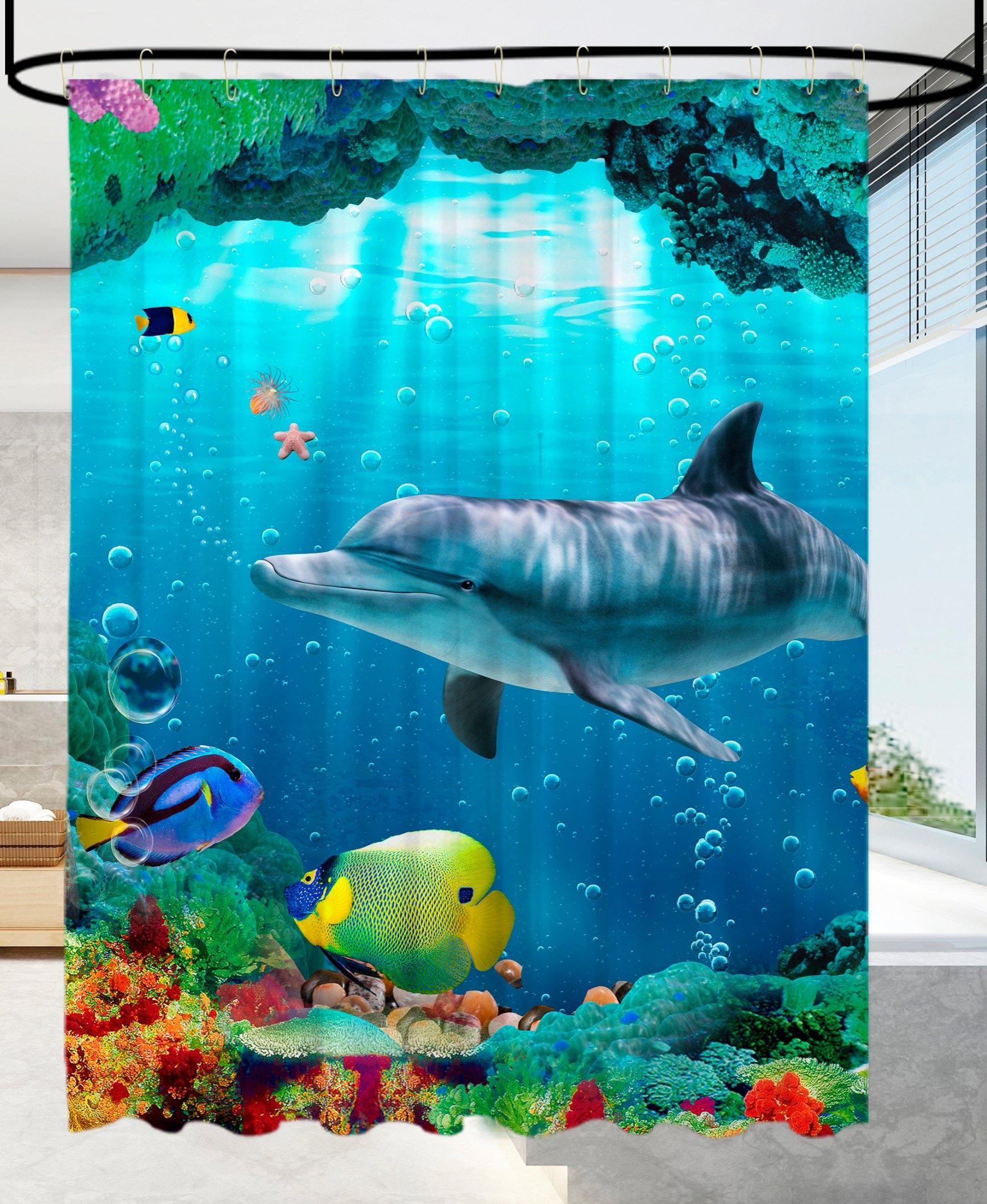 Sanilo douchegordijn Dolfijn koraal Hoogte 200 cm - gratis ruilen op otto.nl