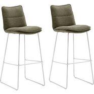 mca furniture barkruk »hampton« (set van 2 stuks) groen