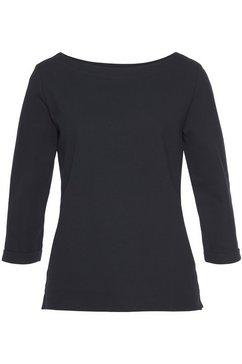 esprit sweatshirt met 3-4-mouwen blauw