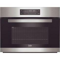 beko compacte oven met magnetron bcw12400x zilver