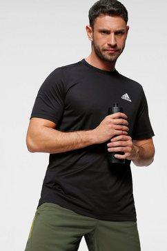 adidas t-shirt designed 2 move plain t-shirt zwart