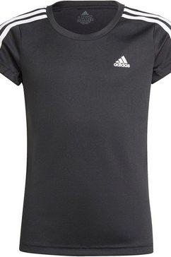 adidas performance t-shirt designed to move 3-stripes t-shirt zwart