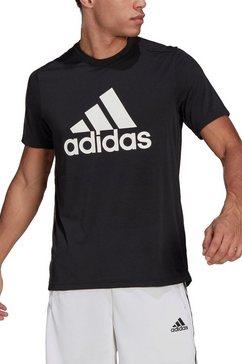 adidas t-shirt designed to move feelready logo t-shirt zwart