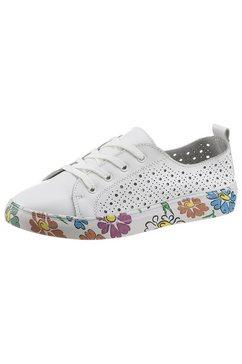 cosmos comfort sneakers zool met bloemenprint wit