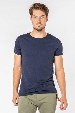 sky rebel shirt met ronde hals blauw