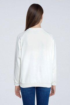 pepe jeans sweater met glinsterende frontprint wit
