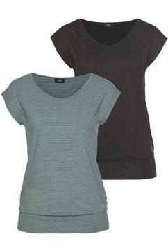 h.i.s functioneel shirt (voordeelset, set van 2) zwart
