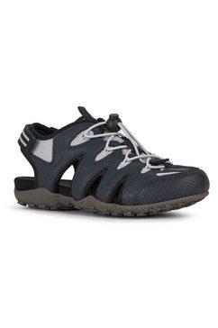 geox sandalen donna sandal strel met klittenbandriempje bij de hiel blauw
