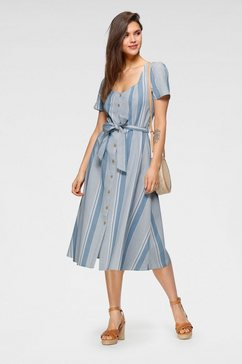 vero moda midi-jurk blauw