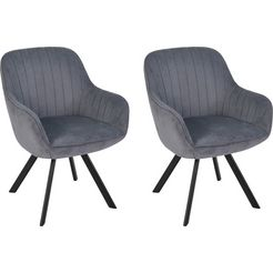 homexperts stoel »carlo« grijs