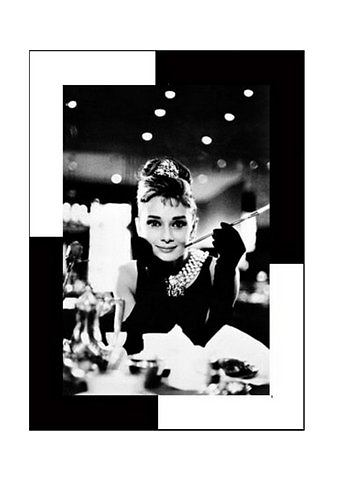 Artprint 'Audrey Hepburn, Breakfast at Tiffany's'