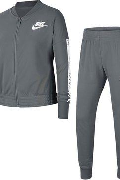 nike trainingspak »girls nike sportswear track suit tricot« grijs
