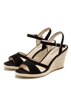 lascana sandaaltjes met sleehak zwart