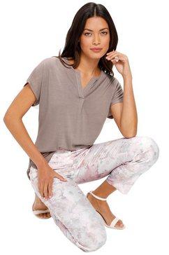 creation l premium shirt met v-hals grijs
