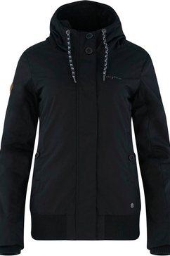 mazine outdoorjack chelsey met pluchen voering zwart