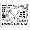 artland keukenwand cocktail lounge (1-delig) zwart