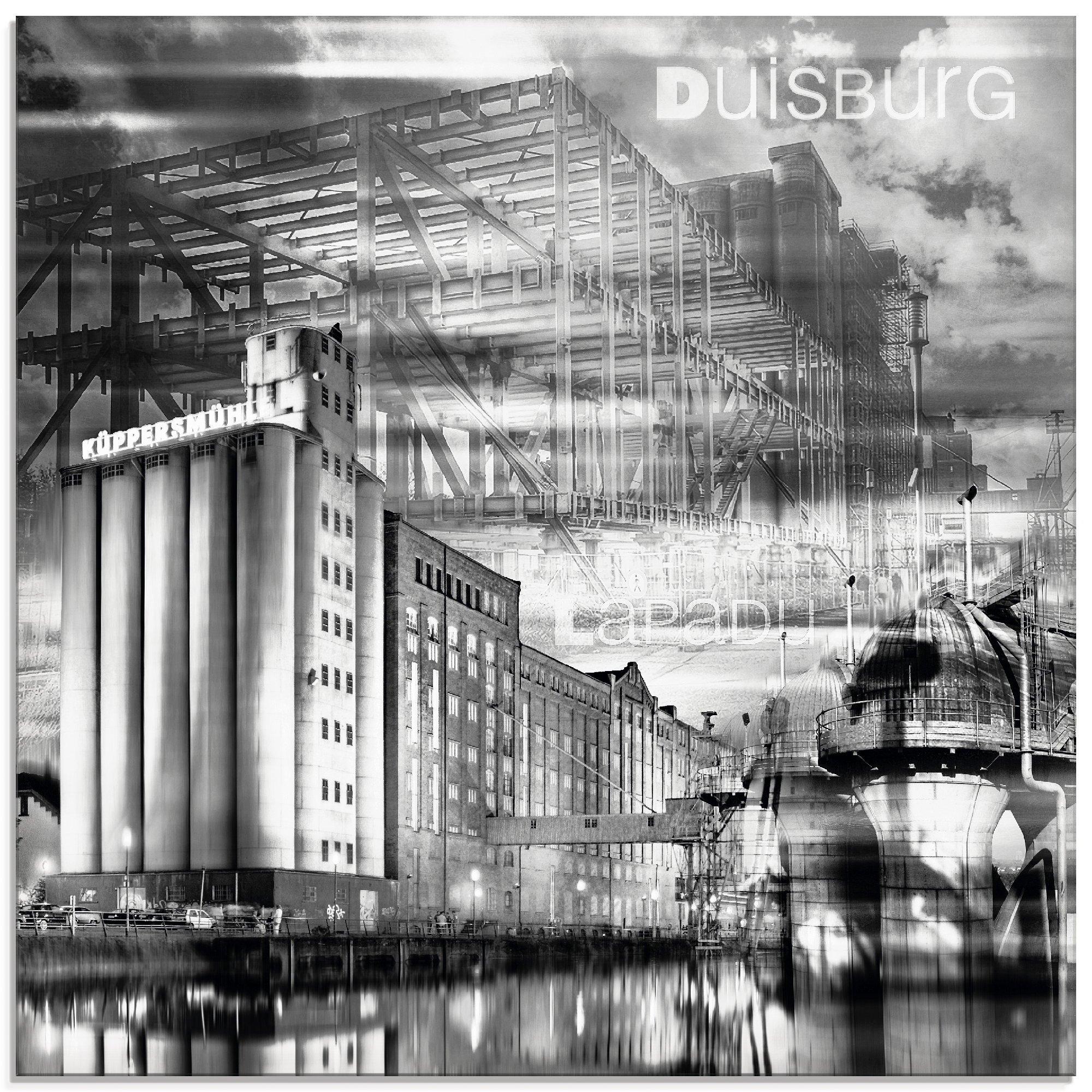 Op zoek naar een Artland print op glas »Duisburg Skyline Collage III«? Koop online bij OTTO