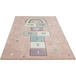 luettenhuett vloerkleed voor de kinderkamer huepfspiel roze