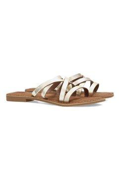 mexx slippers garda in een metallic look goud