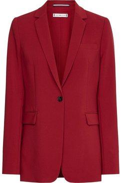 tommy hilfiger lange blazer core suiting sb blazer met lange revers rood
