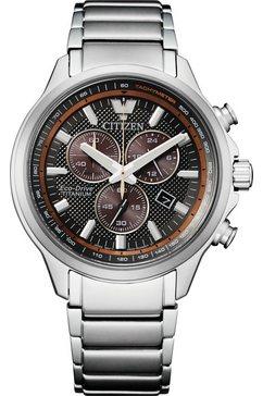citizen titanium horloge »super titanium chrono, at2470-85h« zilver