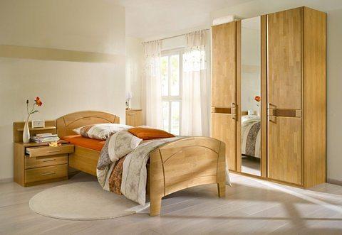 HOME AFFAIRE 4-delige set slaapkamermeubelen Sarah, met ledikant 100x200 cm en 2- of 3-deurs kast