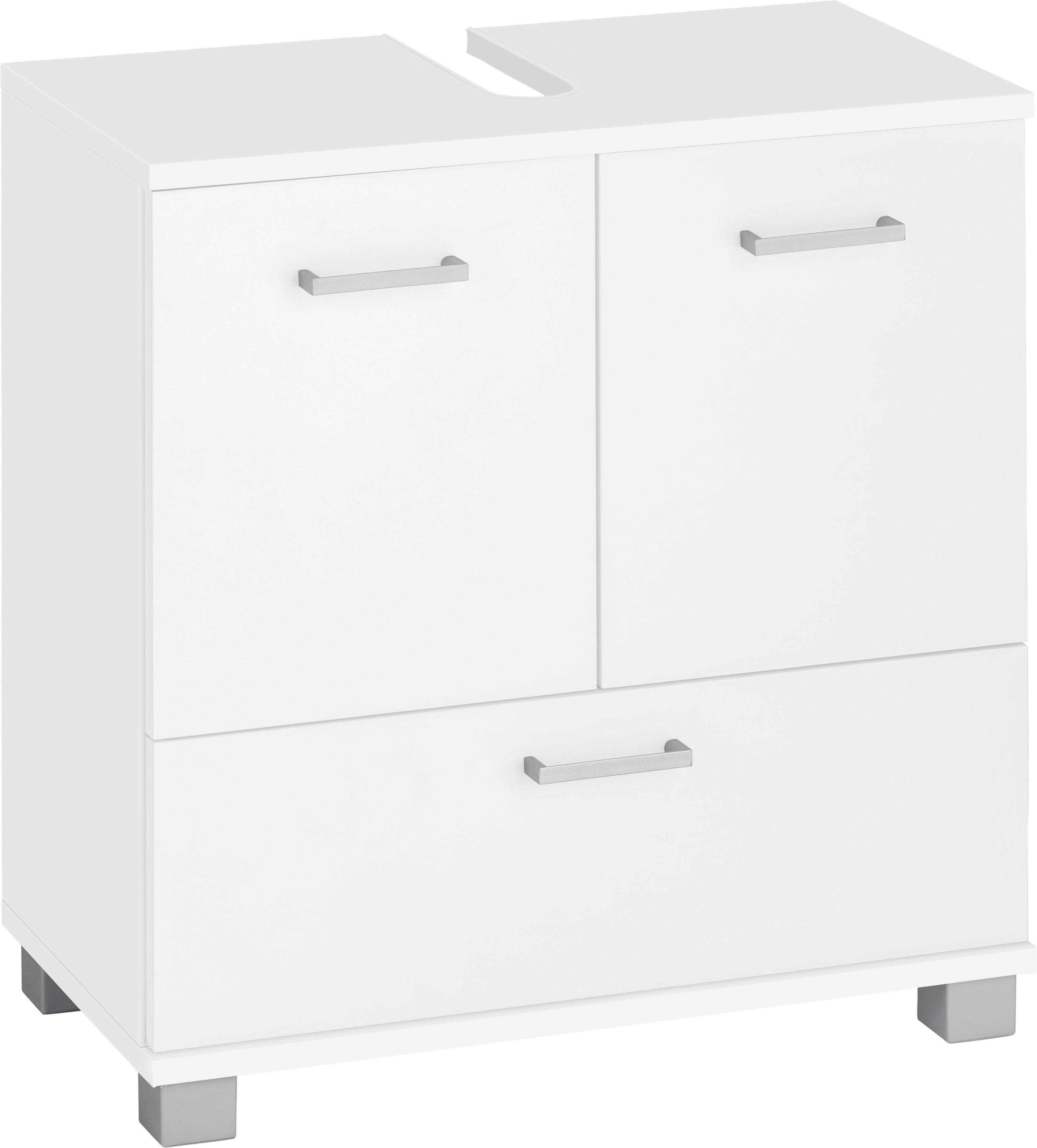 Schildmeyer wastafelonderkast Mobes Breedte x hoogte: 59,8x62,4 cm, badkamerkast met dubbele deur en klep, uitsparing voor afvoerleiding voordelig en veilig online kopen
