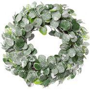 creativ deco sierkrans bevroren eucalyptus ø ca. 43 cm groen