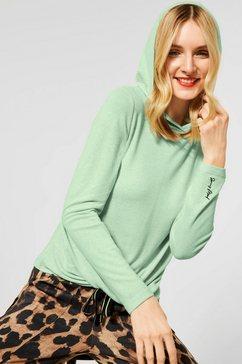street one capuchonshirt in wikkel-look groen